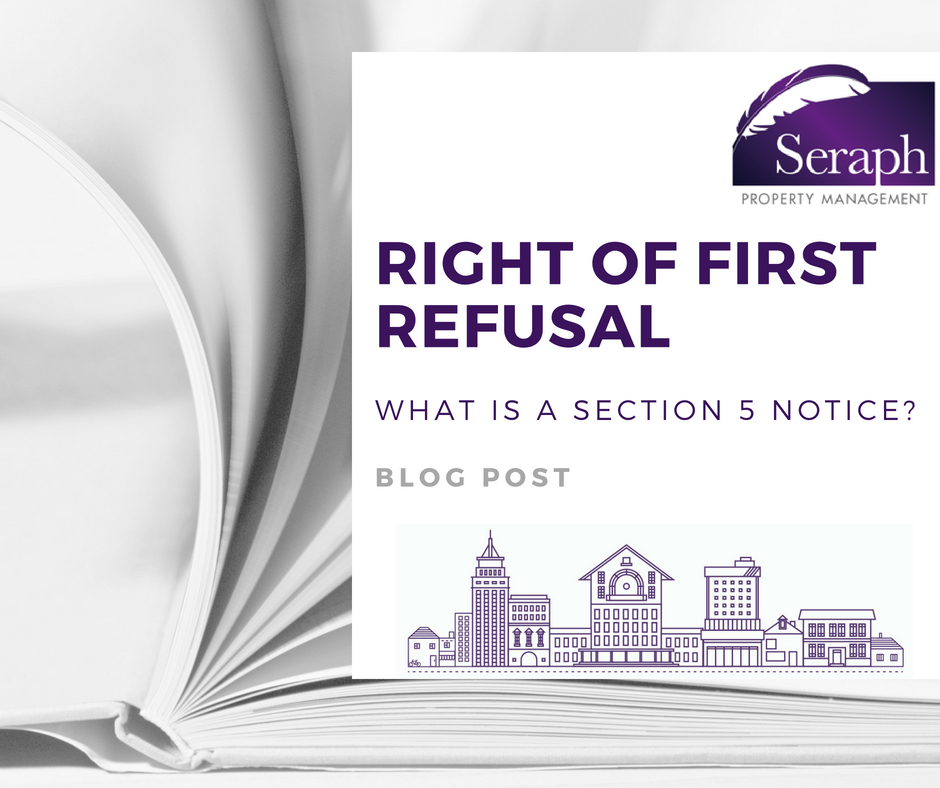Block Management right of first refusal section 5 notice